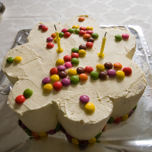 Birthday cake with 2